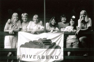 undated group with riverbend sign