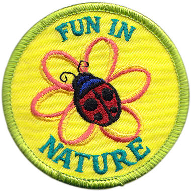 fun in nature embroidered patch
